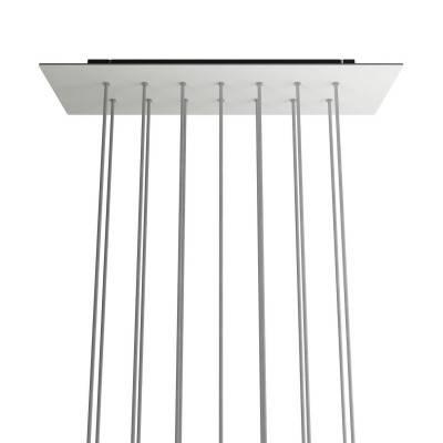 Wit metalen design trekontlaster met schroefdraaf, moer en ringetje