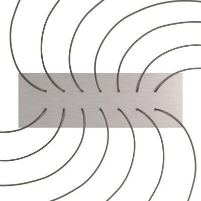 Witte 7 cm. metalen design trekontlaster met schroefdraaf, moer en ringetje