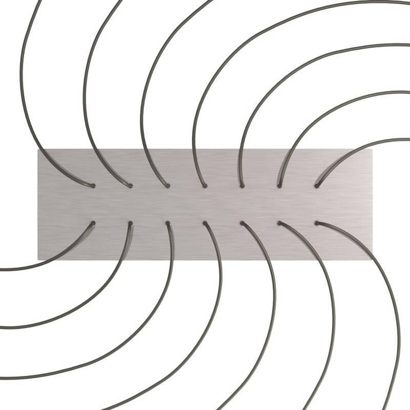 Zwarte 7 cm. metalen design trekontlaster met schroefdraaf, moer en ringetje