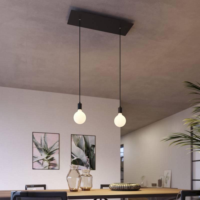 Witte 15 cm. metalen design trekontlaster met schroefdraaf, moer en ringetje