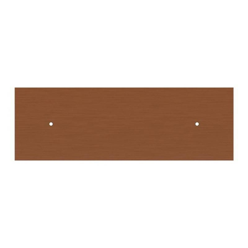 Messing 15 cm. metalen design trekontlaster met schroefdraaf, moer en ringetje