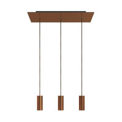 Messing plafondkap 120 mm. met 7 cm. cylindrische trekontlaster