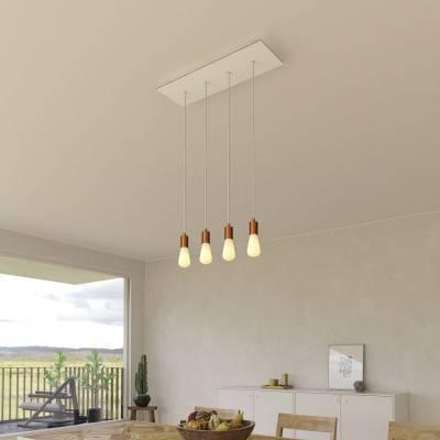 Messing plafondkap 120 mm. met 15 cm. cylindrische trekontlaster