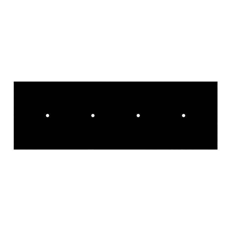 Eutrac spanningsrail adapter zwart voor armatuur 3-fasen