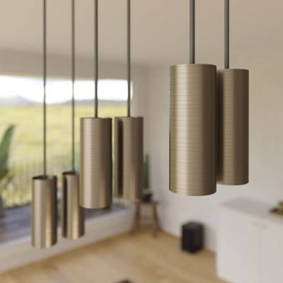 LED lichtbron Globe G125 gebogen LED spiraal – Tattoo Lamp® Saturn 4W E27 2700K