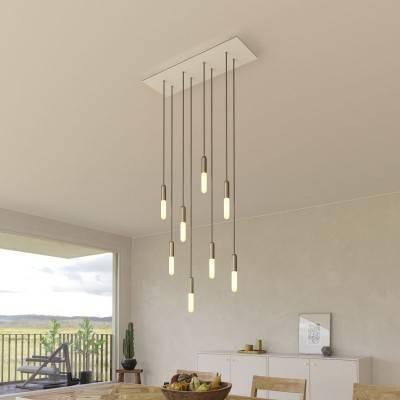 Fermaluce Classic 90° instelbare wand- of plafond lamp van grijs porselein