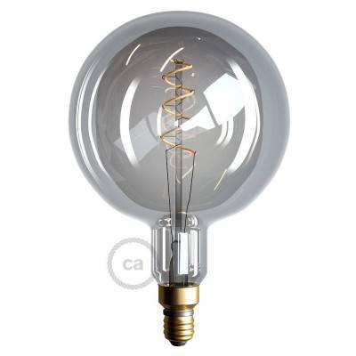 XXL LED Smoky Lichtbron – Globe G200 gebogen spiraal kooldraad - 5W E27 dimbaar 2000K
