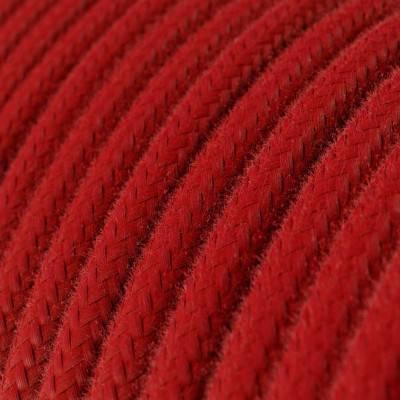 Ronde flexibele electriciteit textielkabel van viscose. RM08 - fuchsia
