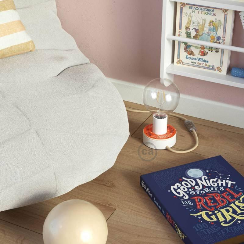 Ronde flexibele electriciteit textielkabel van viscose. RM12 - blauw