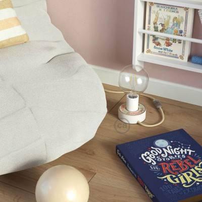 Ronde flexibele electriciteit textielkabel van viscose. RM13 - bruin