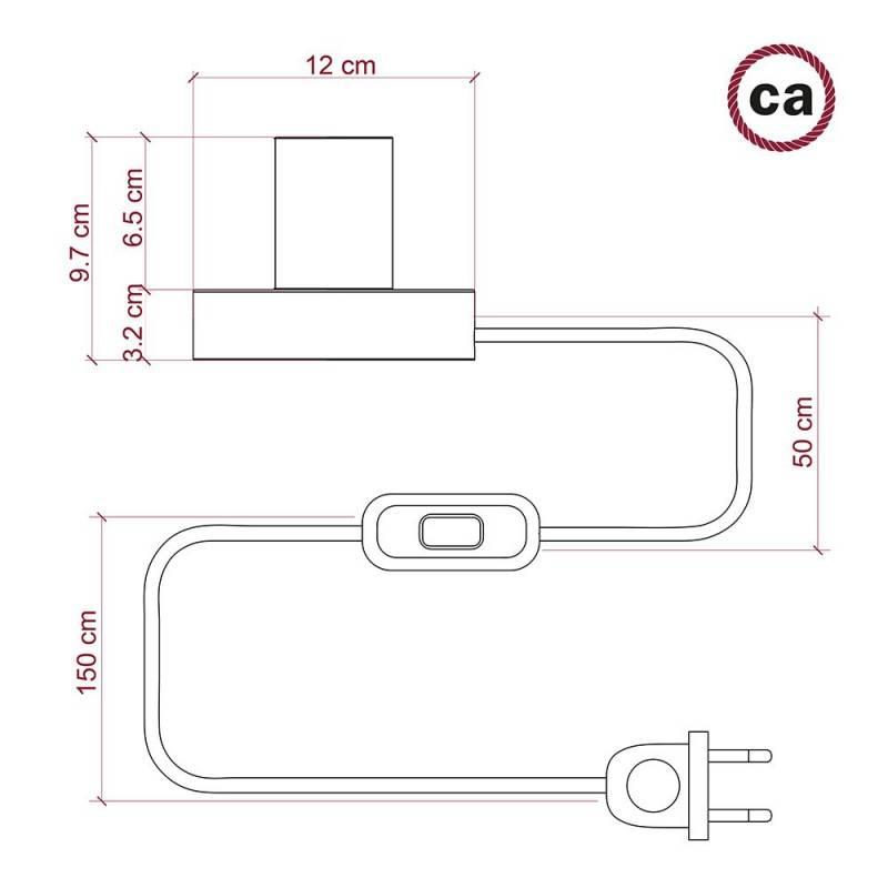 Ronde flexibele electriciteit textielkabel van viscose. RP04 - zwart