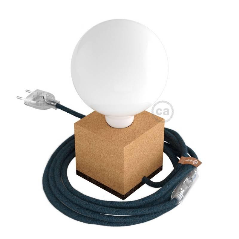 Gevlochten flexibele electriciteit textielkabel van viscose. TM01 - wit