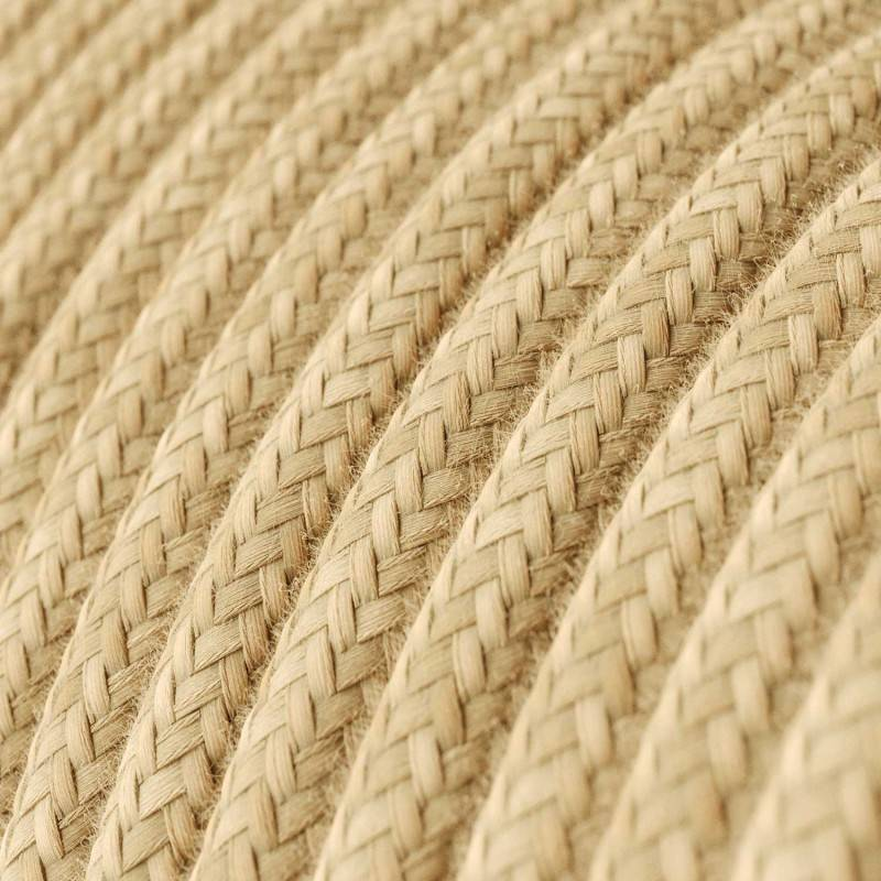 Gevlochten flexibele electriciteit textielkabel van viscose. TM04 - zwart