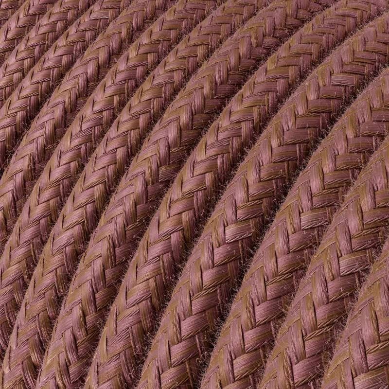 Gevlochten flexibele electriciteit textielkabel van viscose. TM12 - blauw