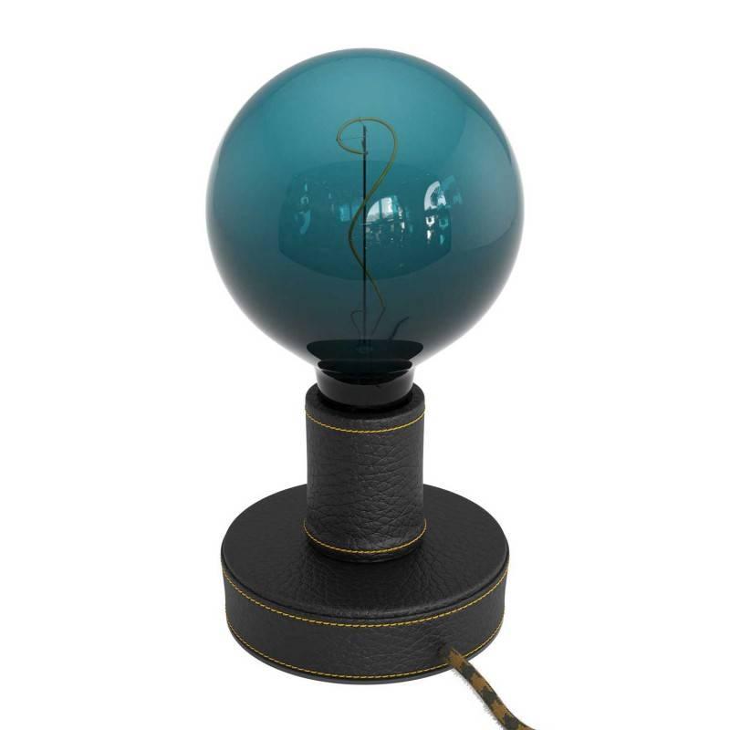 Gevlochten flexibele electriciteit textielkabel van viscose. TM11 - hemelsblauw