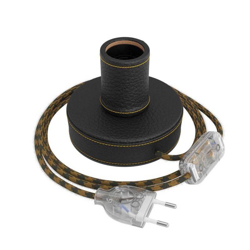 Gevlochten flexibele electriciteit textielkabel van viscose. TM08 - fuchsia