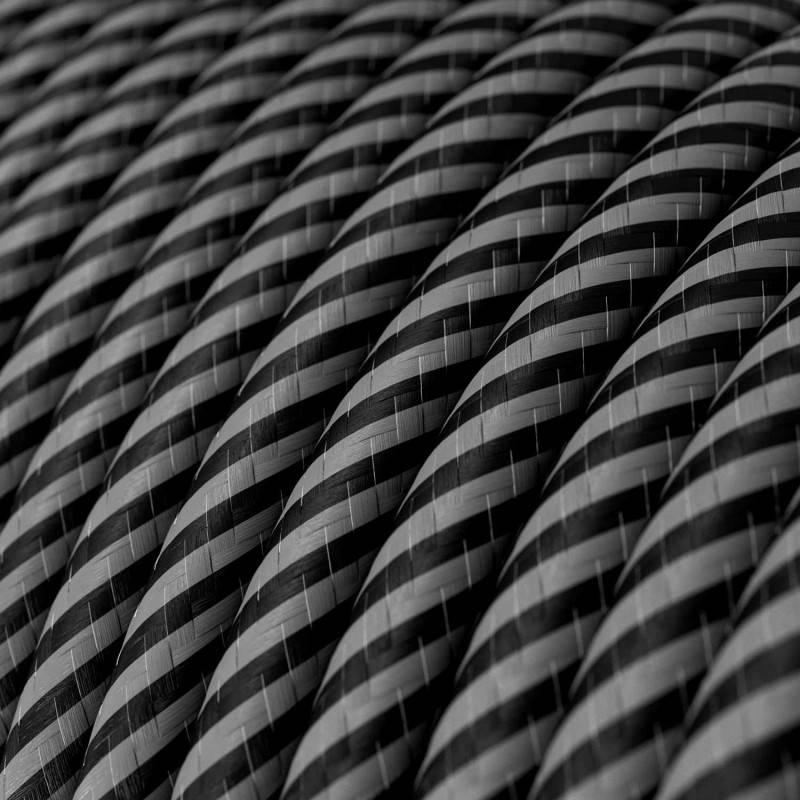 Gevlochten flexibele electriciteit textielkabel van viscose. TM09 - rood