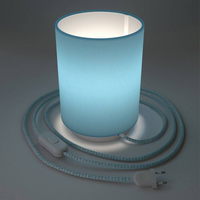 Gevlochten flexibele electriciteit textielkabel van viscose. TM15 - oranje