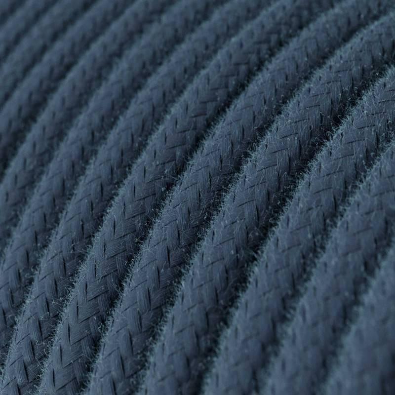 Ronde flexibele electriciteit textielkabel van viscose. RM20 - donkerblauw