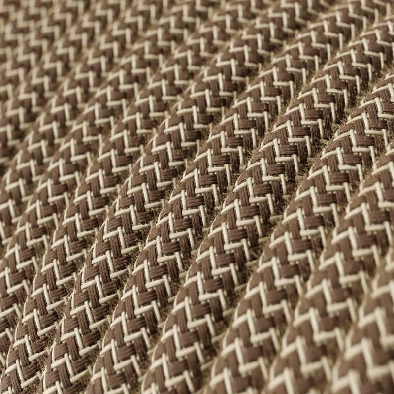 Ronde flexibele electriciteit textielkabel van linnen. RN01 - natuurlijk
