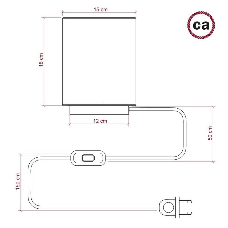 Ronde flexibele electriciteit textielkabel van viscose. RM02 - zilver