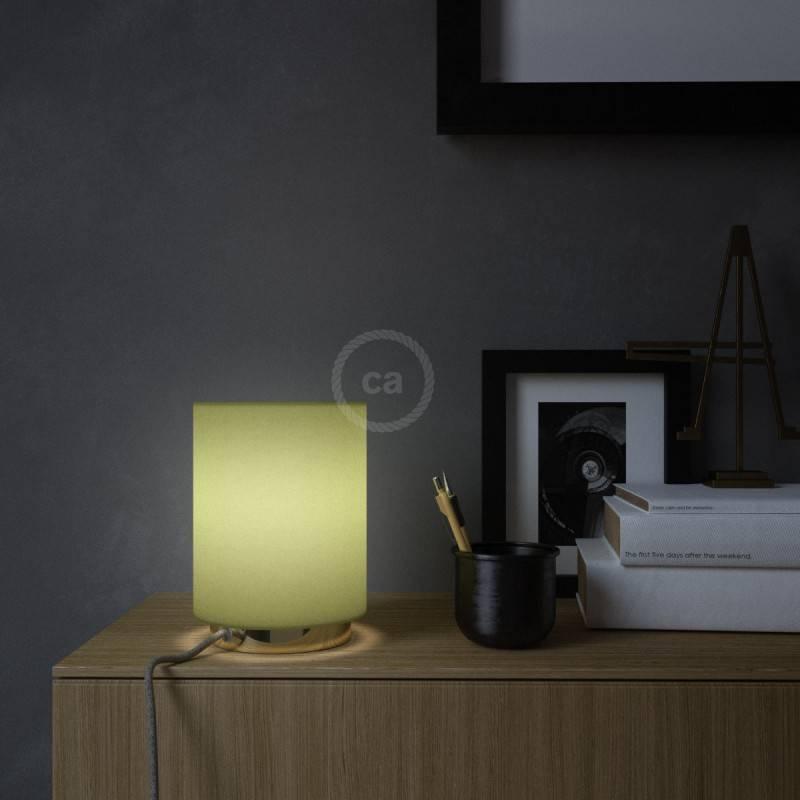 Ronde flexibele glinsterende electriciteit textielkabel van viscose. RL01 - wit