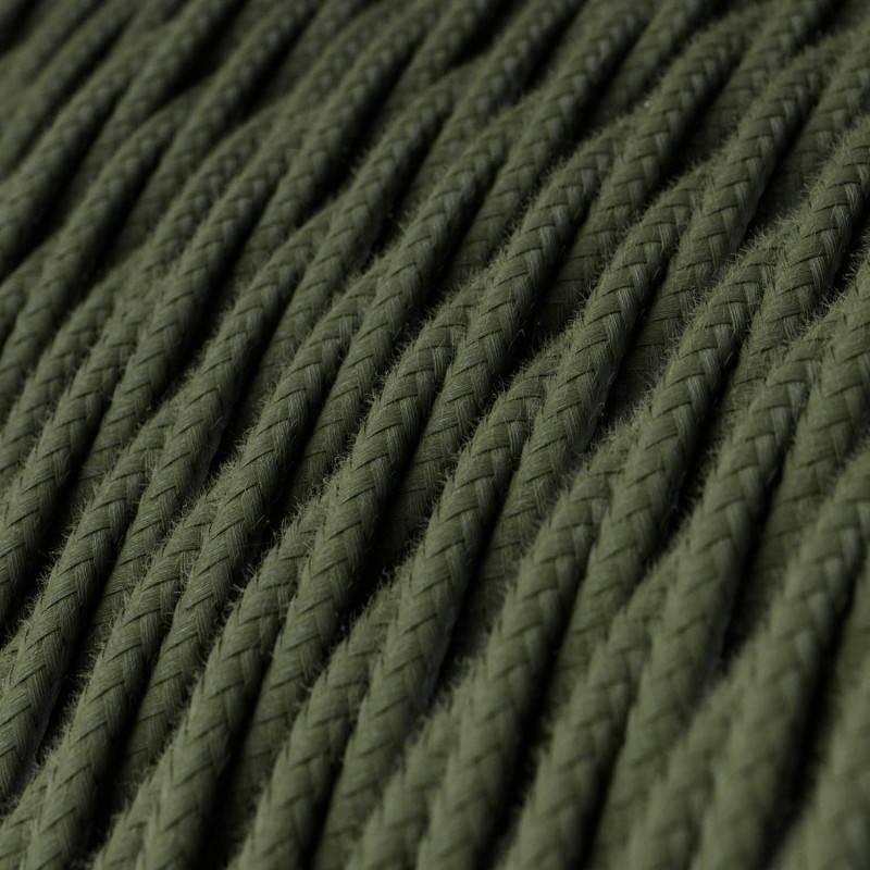 Ronde flexibele electriciteit textielkabel van viscose. RT14 -Stracciatella