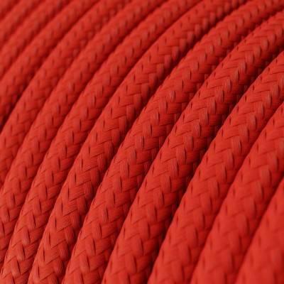 Rond strijkijzersnoer Vertigo HD bedekt met Fuchsia en Dark Purple textiel ERM50