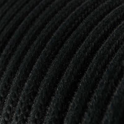 Electrische 3XL touwkabel, 3 x 0,75 mm. Binnenkabels bedekt met textiel en jute.. Diameter 30 mm.