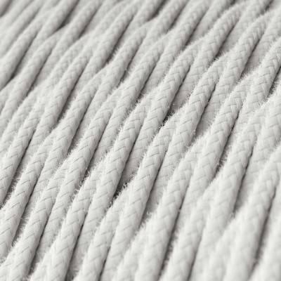 Grijze design flexibele elektrabuis met stof omweven - Creative-Tube grijs antraciet linnen RN02 20 mm