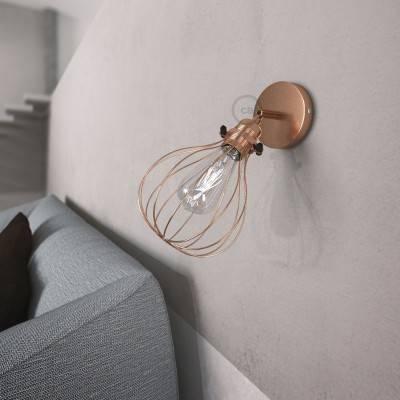 Fermaluce Metallo 90° met Drop lampenkap, verstelbare metalen muurlamp