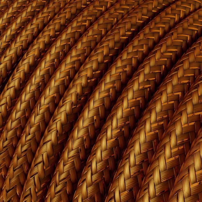 E27 schroeffitting met 2 schroefringen in goudgekleurd bakeliet
