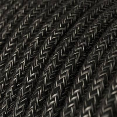 E27 fitting met schakelaar en 2 schroefringen in zwart hard plastic