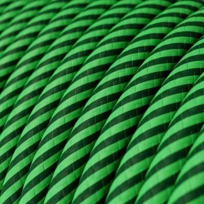 Met textiel omweven 220 V prikkabel, oranje neon viscose CF15