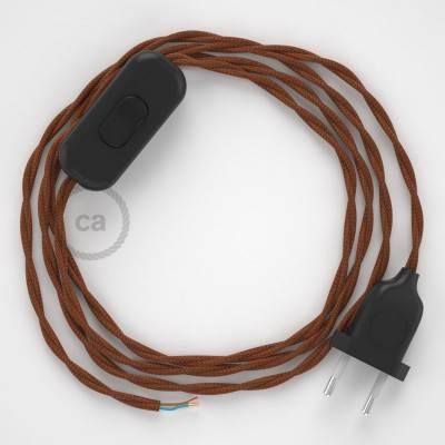 Ronde elektrische buitenkabel bedekt met rood viscose SM09 - IP65 geschikt voor EIVA-systeem