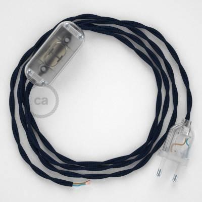 Ronde elektrische buitenkabel bedekt met wit viscose SM01 - IP65 geschikt voor EIVA-systeem
