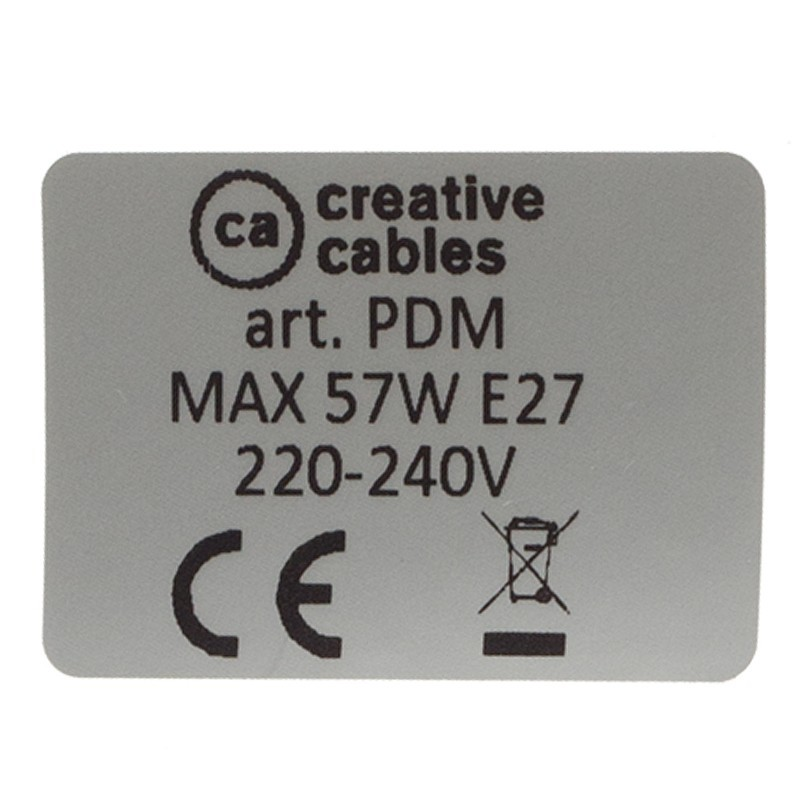 EIVA ELEGANT, E27 outdoor siliconen fittingset voor lampenkap - de eerste IP65 herbruikbare fittingset wereldwijd.