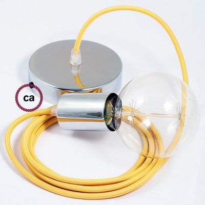 EIVA PASTEL buiten hanglamp met textiel buitenkabel, kleurrijke siliconen plafondkap en E27 fitting IP65 waterproof