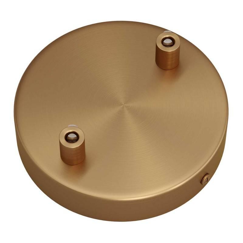 Tub-E14, dubbele metalen buis voor spotje en E14 fitting met dubbele moer