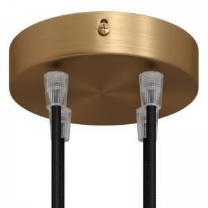 Bol G125 LED lichtbron goudkleurige Croissant lijn met spiraal filament 5W E27 Dimbaar 2000K