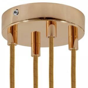 XXL Fuso BT120 LED lichtbron goudkleurige Croissant lijn met spiraal filament 8,5W E27 Dimbaar 2000K