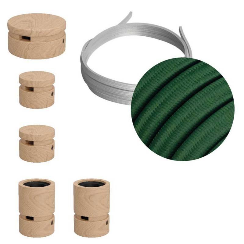 Mini cilindervormige metalen plafondkap met 4 zijgaten (aansluitdoos)