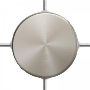 Smart cilindrische metalen plafondkap met 4 gaten - compatibel met spraakassistenten