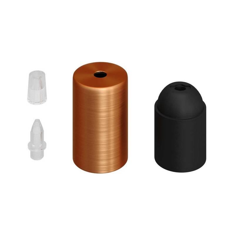 Smart clindrische metaal 1 centraal gat + 2 zijgaten plafondkap kit - compatibel met spraakassistenten