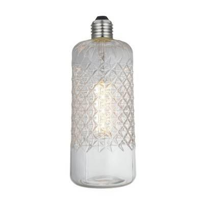 Demetra LED-lichtbron Clear Crystal-Lijn 6W E27 Dimbaar 2700K