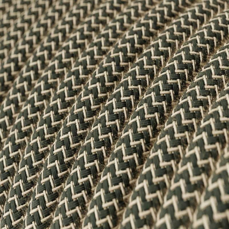 Geïsoleerde porseleinen muurbevestiging voor gevlochten textielkabel, 18mm