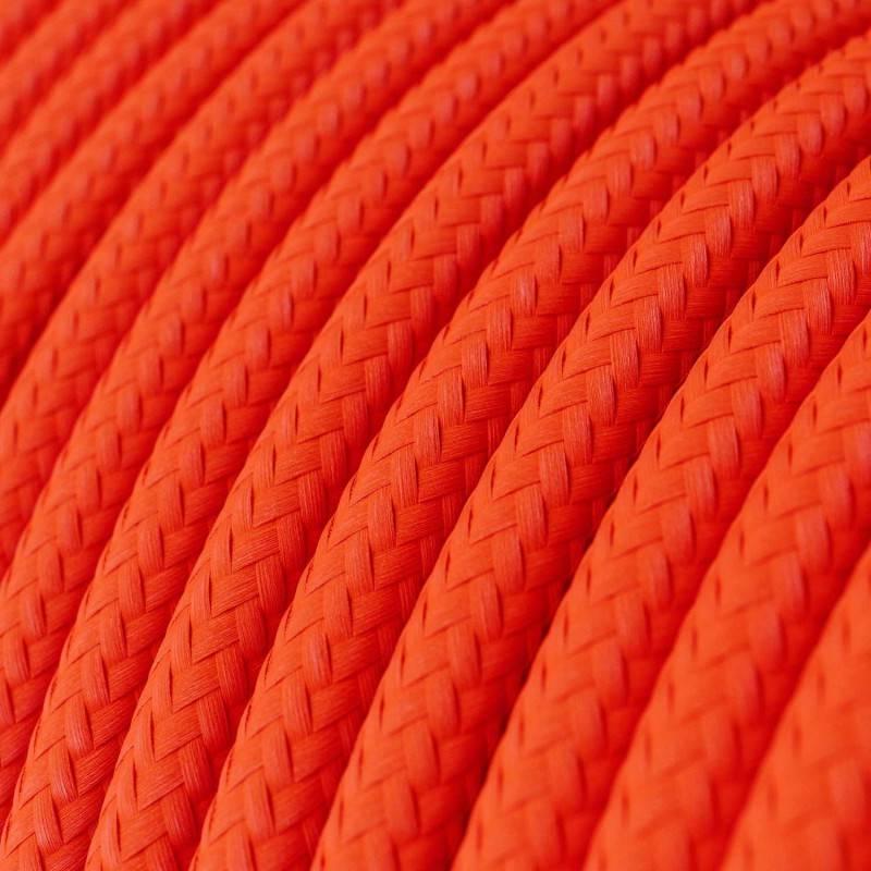 Gevlochten textielkabel van viscose met schakelaar en stekker. TM07 - lila 1,80 m.