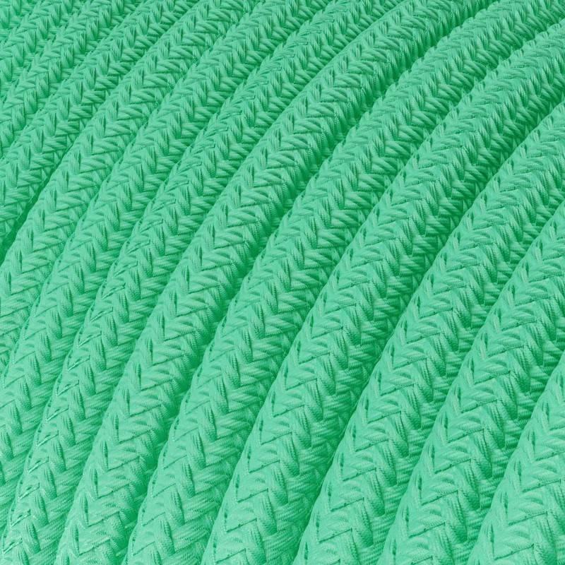 Gevlochten textielkabel van viscose met schakelaar en stekker. TM15 - oranje 1,80 m.