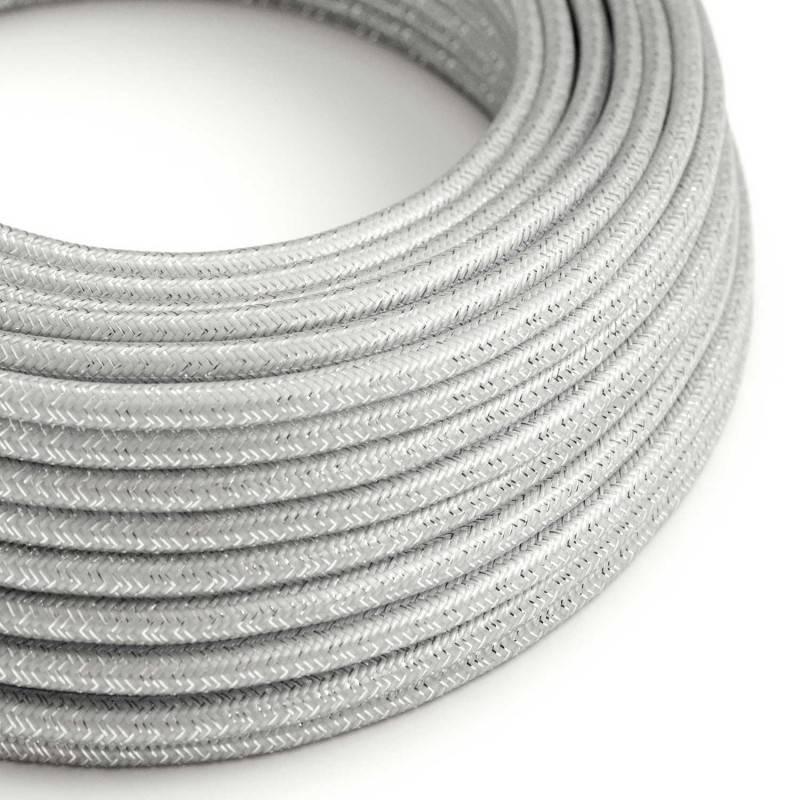 Gevlochten textielkabel van viscose met schakelaar en stekker. TM08 - fuchsia 1,80 m.