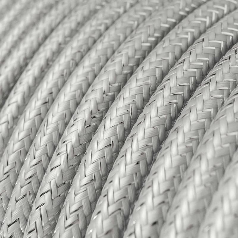 Gevlochten textielkabel van viscose met schakelaar en stekker. TM09 - rood 1,80 m.